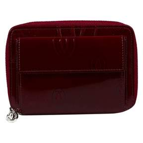 Cartier Red Patent leather Wallets