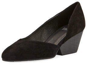 Eileen Fisher Lily Suede Half-d'Orsay Pump
