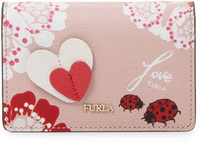 Furla Women's Floral Leather Card Case