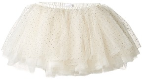 Mud Pie Ivory and Gold Mesh Tutu Girl's Clothing