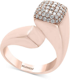 Effy Pave Rose by Diamond Bypass Ring (1/2 ct. t.w.) in 14k Rose Gold