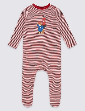 Marks and Spencer PaddingtonTM Pure Cotton Sleepsuit