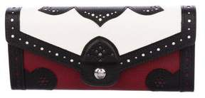 Longchamp Leather Perforated Wallet
