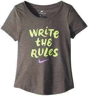 Nike Sportswear Rules Tee Girl's T Shirt