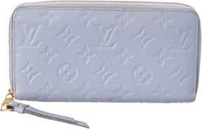 Louis Vuitton Blue Monogram Empreinte Leather Zippy Wallet - ONE COLOR - STYLE