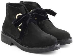 Rupert Sanderson Suede Boots with Velvet Laces