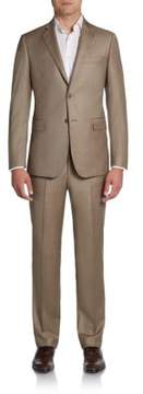 Saks Fifth Avenue BLACK Slim-Fit Sharkskin Wool Suit