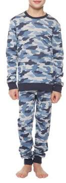 Dex Boy's Two-Piece Camouflage Pajama Top and Pants Set
