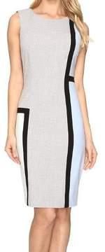Calvin Klein Women's Asymmetrical Colorblocked Sheath Dress