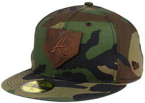New Era Atlanta Braves The Logo of Leather 59FIFTY Fitted Cap
