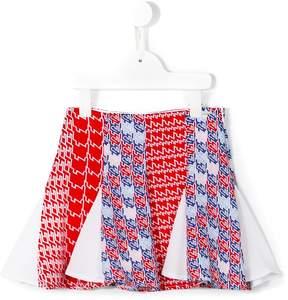Kenzo diagonal stripes skirt
