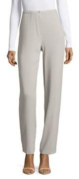 Basler Textured Flat-Front Pants