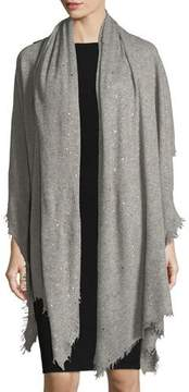 Bindya Scattered Sparkle Frame Cashmere Stole, Light Gray