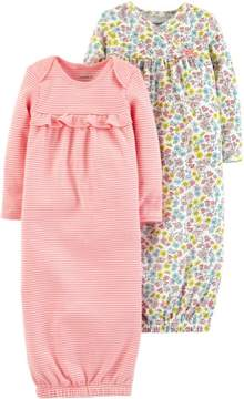 Carter's Baby Girls 2-pk. Floral & Stripe Sleeper Gowns 3 Month Pink multi