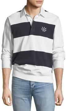 Rag & Bone Men's Long-Sleeve Rugby Polo Shirt