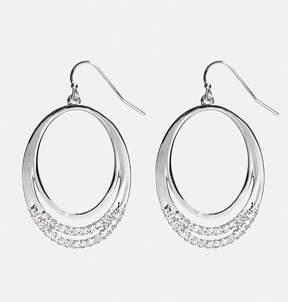 Avenue Encrusted Oval Hoop Earrings