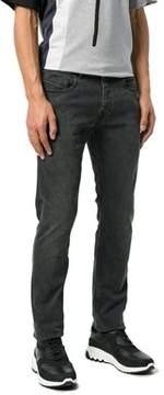 Diesel Black Gold Men's Grey/black Cotton Jeans.