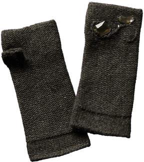 Portolano Women's Grey Cashmere, Wool, & Silk-Blend Gloves