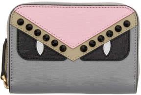 Fendi Multicolor Bag Bugs Zip Around Wallet
