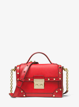 Michael Kors Cori Small Leather Trunk Bag - RED - STYLE