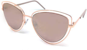 Fantas-Eyes Fantas Eyes Layered Look Full Frame Aviator UV Protection Sunglasses-Womens