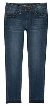 Vigoss Girl's Ruffle Pocket Skinny Jeans