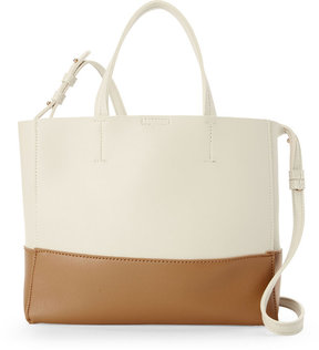 street level Two-Tone Small Convertible Tote