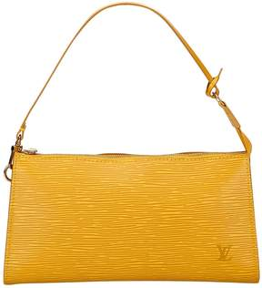 Louis Vuitton Pochette Accessoire leather clutch bag - YELLOW - STYLE