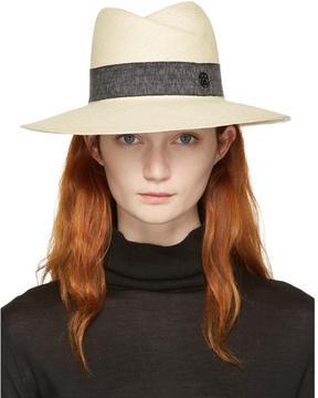 Maison Michel Beige Straw Virginie Panama Hat