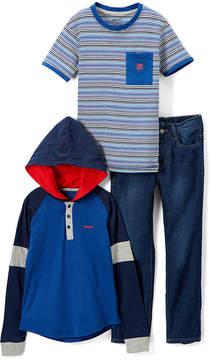 DKNY Dress Blues Avenue D Hoodie Set - Infant, Toddler & Boys