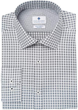 Ryan Seacrest Distinction Men's Slim-Fit Stretch Non-Iron Performance Check Dress Shirt, Created for Macy's