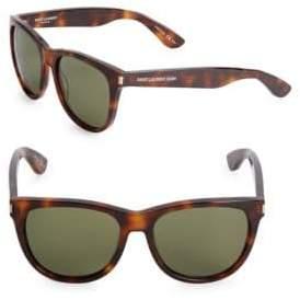 Saint Laurent 54MM Solid Lite Rectangle Sunglasses