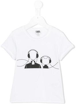 Karl Lagerfeld headphone print T-shirt