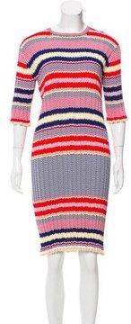 Celine Patterned Knee-Length Dress