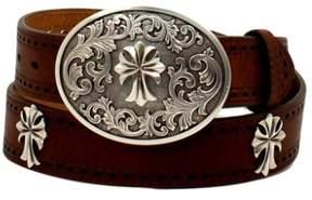Ariat Western Belt Women Perforated Edge Antique Cross XL Tan A1525208