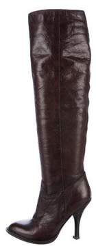 Prada Knee-High Leather Boots