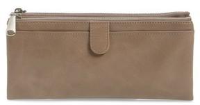 Hobo Women's 'Taylor' Glazed Leather Wallet - Grey