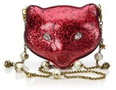 Gucci Broadway Kitty Glittered Acrylic Clutch - ORCHIDEA - STYLE
