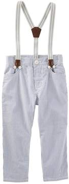 Osh Kosh Oshkosh Bgosh Toddler Boy Suspender Seersucker Pants