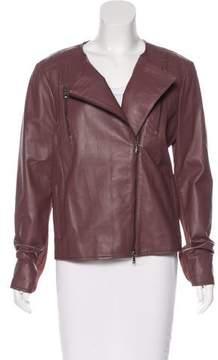 Peserico Perforated Biker Jacket