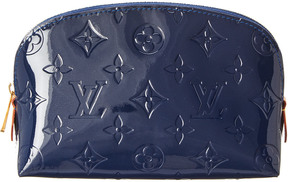 Louis Vuitton Blue Monogram Vernis Leather Cosmetic Pouch