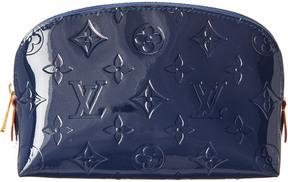 Louis Vuitton Blue Monogram Vernis Leather Cosmetic Pouch