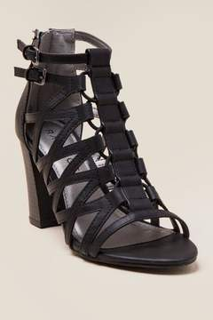 Rampage Elsies Strappy Caged Block Heel - Black