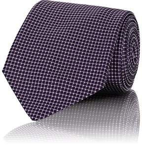 Ralph Lauren Purple Label Men's Checked Silk Necktie