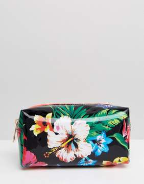 New Look Tropical Floral Makeup Bag
