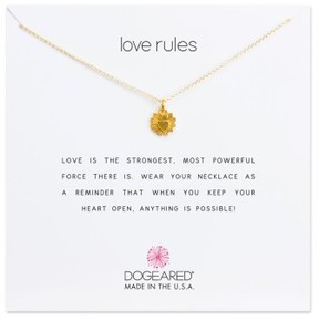 Dogeared Women's Love Rules Pendant Necklace