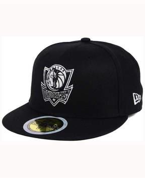 New Era Kids' Dallas Mavericks Black White 59FIFTY Cap
