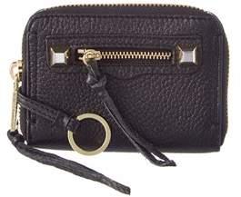 Rebecca Minkoff Mini Regan Leather Zip Wallet. - BLACK - STYLE