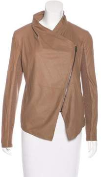 BB Dakota Leather Asymmetrical Jacket
