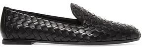 Bottega Veneta Intrecciato Leather Loafers - Black